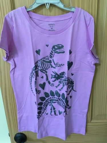 NWT Carter/'s Dinosaur Tee Shirt Top Girls Short Sleeve Purple
