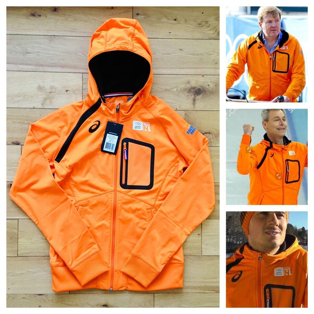 Asics Netherlands Pro Elite Sochi 2014 Olympics Men's Hooded Jacket New Size M