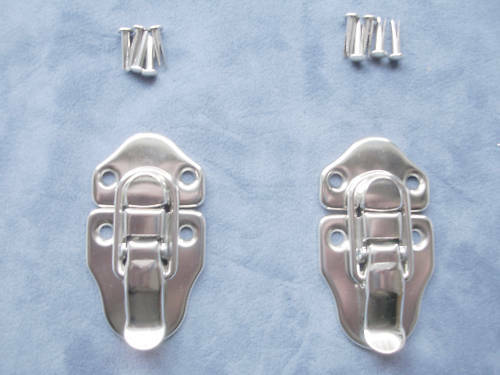 SET OF 4 Guitar//Instrument Case Latch-Nickel-TALL HASP for Gibson /& USA Brands