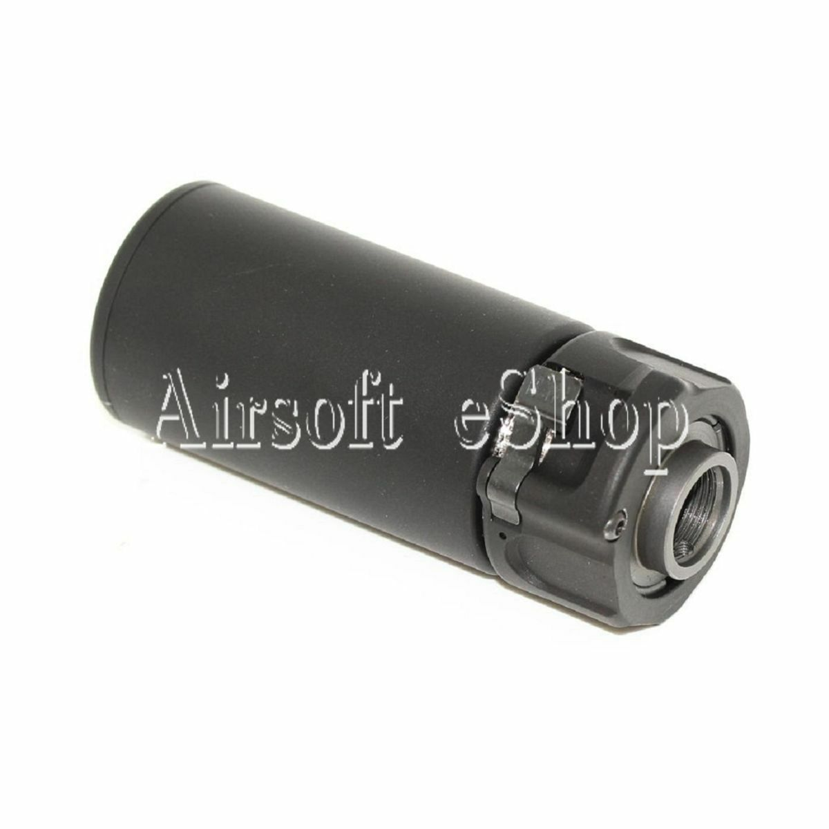 Airsoftmega 5KU QD MINI Airsoft soppressore con 14 mm flashider Nero