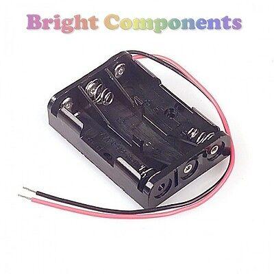 Triple aaa battery holder 3 aaa holder - 1st classe post 150mm wire leads -