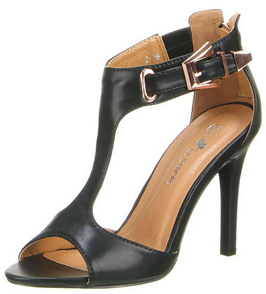Sandalo Donna Sandalo Cinturino Sandalo Ecopelle Donna Similpelle Scarpe Alte