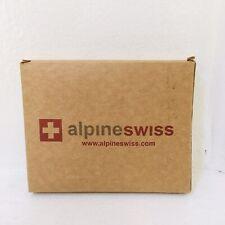 Alpine Swiss (910A-PARENT) Front Pocket Wallet - Black