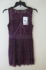 Lily-Rose-Purple-Lace-layered-dress-From-Kohls-Junior-Women-039-s-Size-Small-NWT