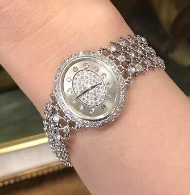 Piaget Mouawad Las Diamond Bracelet Watch In 18k White Gold Hm2043zz Ebay