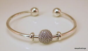 afa6158a8 Image is loading AUTHENTIC-PANDORA-OPEN-BANGLE-GIFT-SET-WITH-PAVE-