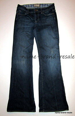 PAIGE PREMIUM DENIM JEANS Womens 27 x 30 ROBERTSON Low Rise Dark Wash Wide Flare