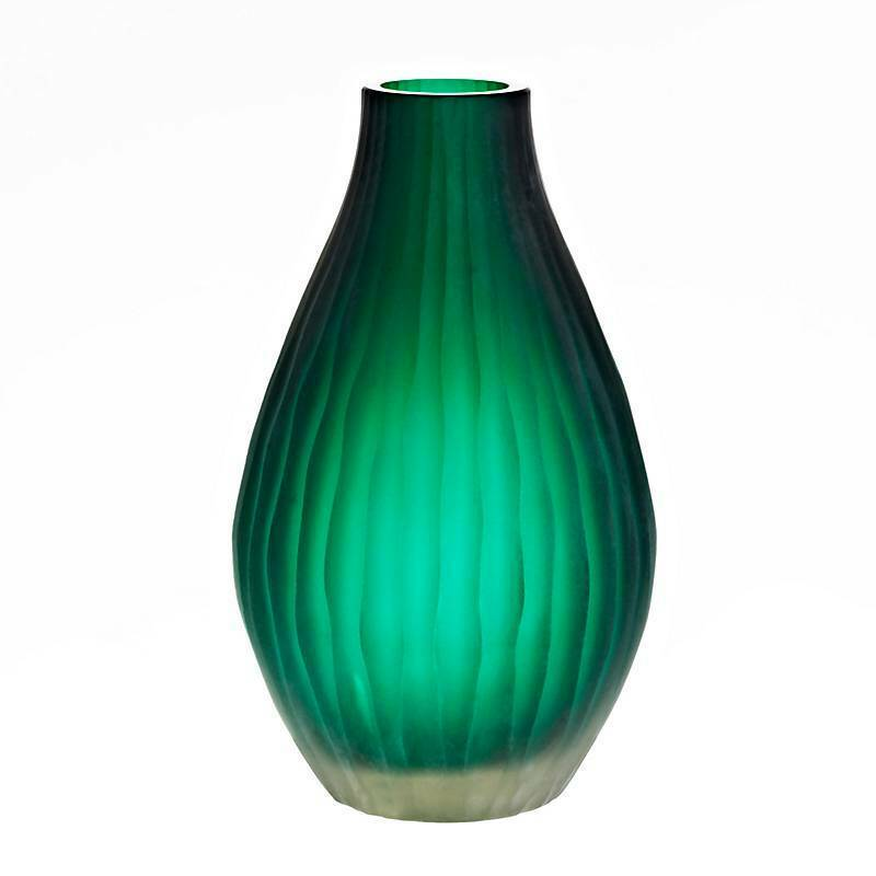 Vase Blaumenvase JOZY ART QUEEN jade, H=30cm (ART GLASS by CRISTALICA) GW04795