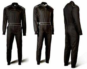 Speed-Kartoverall-Daytona-HS-1-Schwarz-Groesse-110-4XL-Karting-Suit-Daytona