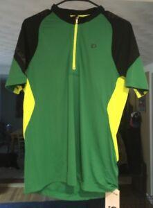 Pearl Izumi Men s Size Med Green Short Sleeve 1 4 Zip Cycling Jersey ... ddb0f40c6