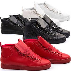 Scarpe-Uomo-Ginnastica-Sneakers-Pelle-PU-da-Passeggio-Sportive-Casual-S57