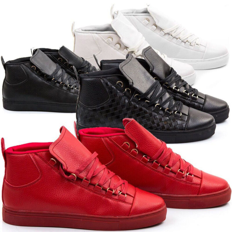Shoe Trainer Sneakers Man Leather Pu Walking Sports Casual S57