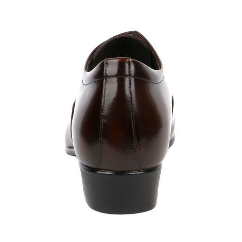 "Mens Shoe Two Tone Brown Semi Glossy Formal Elegant /& Dressy 2.8/"" Tall JW504"