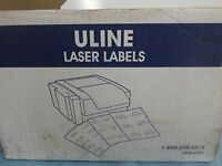 Uline White Laser Labels 8.5x5.5 Pack Of 50