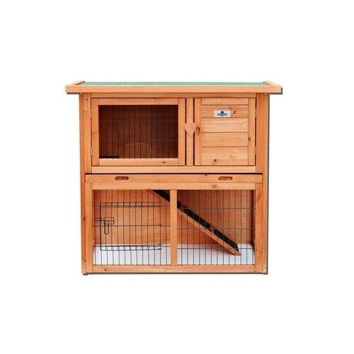 2 Tier Rabbit Hutch /& Run Guinea Pig House Cage RH06