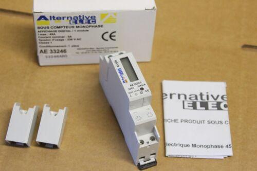 NEUF Alternative Elec AE33246 Sous compteur modulaire 5//45A affichage digital