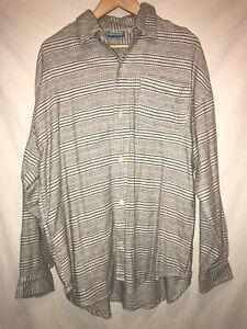 442645e6e8 NWT Billabong Flannel Shirt Button Mens M Surf Nordstrom Plaid White ...