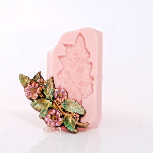 552 Flower and Leaf Silicone Mold Candy Mint Polymer Clay Resin Metal Clay