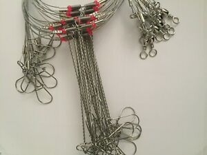 20Pcs-Wire-Leader-Trace-with-Snap-amp-Beads-amp-2-Arms-for-porgy-and-all