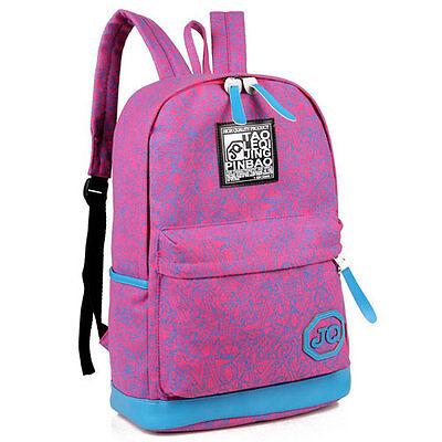 New Girl Women Backpack School Bag Cartoon Sketch Denim Rucksack Satchel Hot