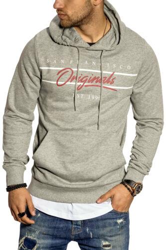 Jack /& Jones Herren Hoodie Kapuzenpullover Print Sweatshirt Sweater Pullover