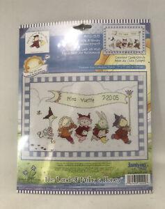 Janlynn-Bunny-Rabbit-amp-Animals-Parade-Baby-Announcement-X-Stitch-Kit-NIP-13-x-9-034