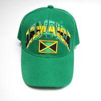 Nonstop Jamaican Baseball Cap Adjustable Green Hat Acrylic