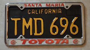 Image Is Loading Santa Maria Toyota Santa Maria California License Plate