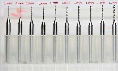"10pcs 3.175mm 1/8"" 0.3-1.2mm PCB drill bit,Carbide Engraving Mill Cutter CNC Bit"