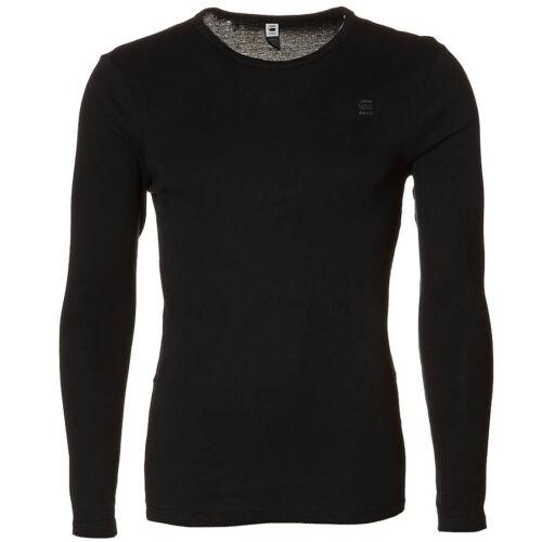G-star Raw Mens Shirt Slim Fit Crew Neck Long Sleeve Black 8753 124 990 New
