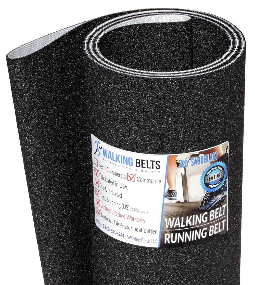 Precor 9.35i SN  AMRY Treadmill Running Belt 2ply Sand Blast  Free 1oz Lube