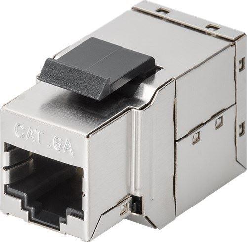 GOOBAY Cat 6A Keystone Modular par de STP plata-negro 2x Hembra RJ45 (8P8C)