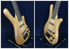 Haze SPB-3213N 4-String Neck-thru Electric Bass Guitar Natural w/Free gig bag