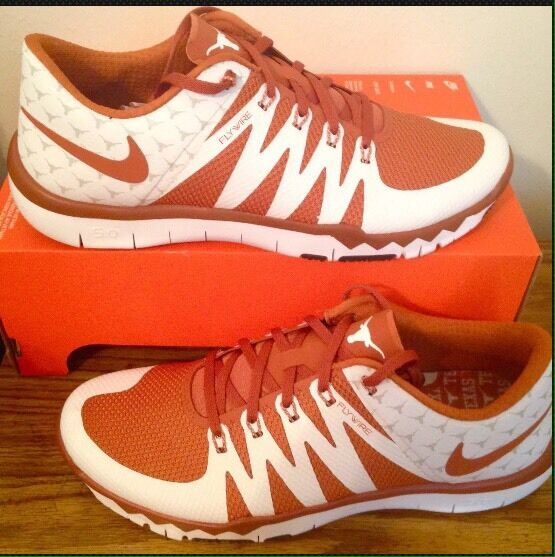 SZ. 8.5 Mens NIKE Free Trainer 5.0 V6 AMP Texas Longhorns shoes 723939-800