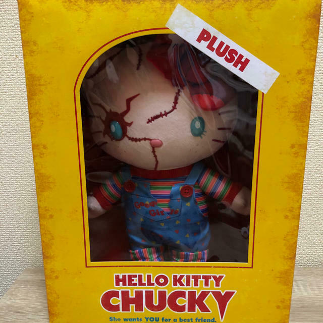 USJ Osaka Sanrio HELLO KITTY CHUCKY Plush Doll Limited 2018 Halloween