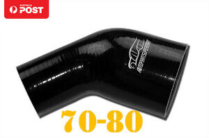 4PLY-Silicone-45-Degree-Reducer-Elbow-Joiner-Hose-70mm-80mm-2-75-034-3-15-034-Black