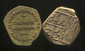 DernièRe Collection De Colombie 4 Escudos 1745 Collection Bp ( Bis ) DernièRe Technologie