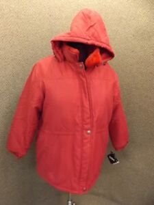 2x Collar Rød Anorak Coat Ny Faux Totes Kvinder Hooded Fur Vandtæt Nwt EqXAE8wP