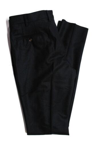 Domenico Vacca Mens Wool Straight Leg Flat Dress Pants Black Size 52 Italian