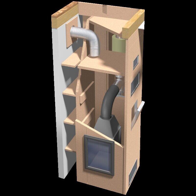 8x Kaminbauplatte Grenaisol ca. 3 3 3 m² Kaminverkleidung Kaminbau + Kleber def7ab