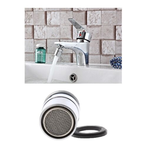 Brass Adjustable 24mm Swivel Water Saving Tap Nozzle Spout Aerator M24 Male