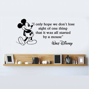 Image is loading Disney-Mickey-Mouse-I-Only-Hope-We-Don-  sc 1 st  eBay & Disney Mickey Mouse I Only Hope We Donu0027t vinyl wall art decal ...