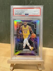 2019-20 Panini Silver Prizm #129 LeBron James Los Angeles Lakers PSA 10