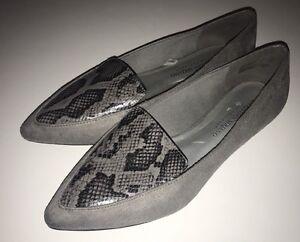 ef104b99c849 Christian Siriano Women s Pointy Toe Slip on Flats Shoes Black Gray ...