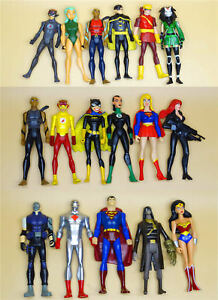 lot DC UNIVERSE YOUNG JUSTICE JLU ACTION FIGURE superman BATGIRL joker Aquaman