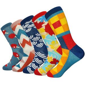 Fashion-Mens-Cotton-Socks-Fancy-Colorful-Design-Novelty-Casual-Happy-Dress-Sox