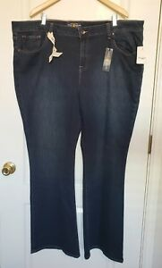 9a0fa1cba8219 NWT Womens LUCKY BRAND Plus Size Jeans Ginger Boot Mid Rise Slimming ...