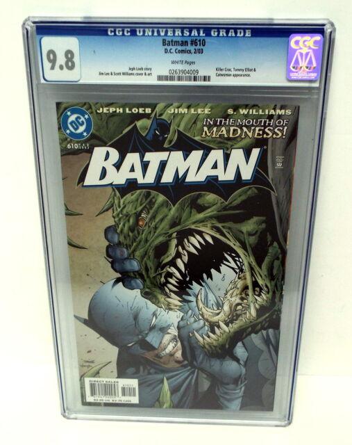 BATMAN #610 CGC 9.8 White Pages Jim Lee featuring Killer Croc