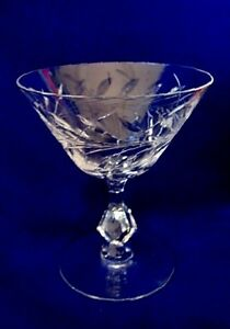 Collectible-Vintage-Hand-Cut-Leaded-Crystal-Champagne-Goblet-Sherbet