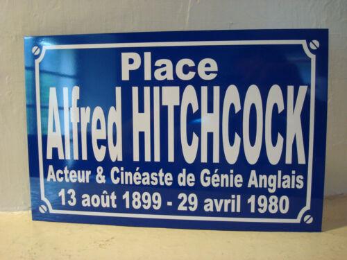 plaque cinéma Alfred HITCHCOCK objet collection pour fan déco cadeau cinephile